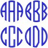 round esa monogram letters icon