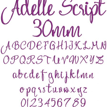 Adelle Script 30mm Font