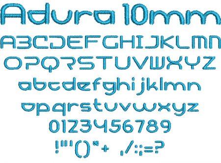 Adura 10mm Font