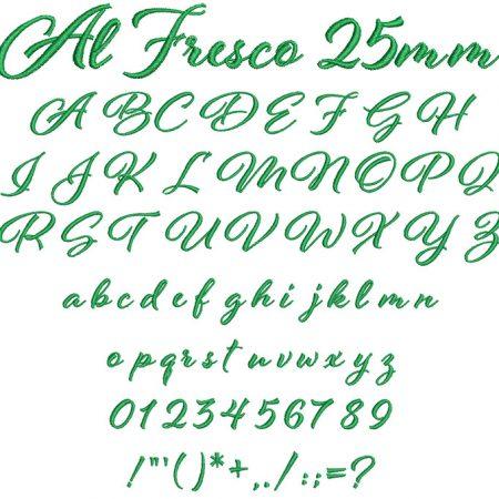 Al Fresco 25mm Font