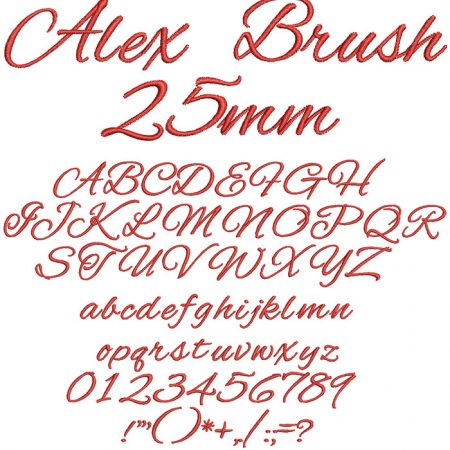 Alex Brush 25mm Font