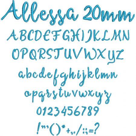 Allessa 20mm Font