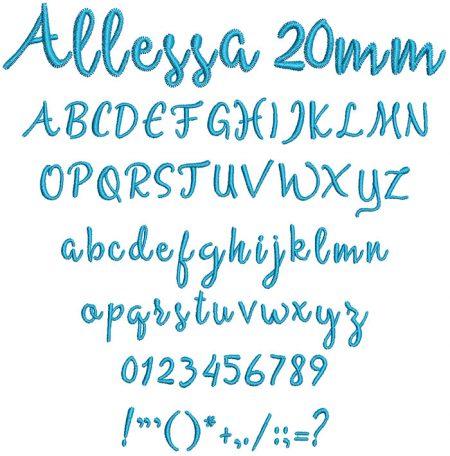 Allessa 20mm Font 1