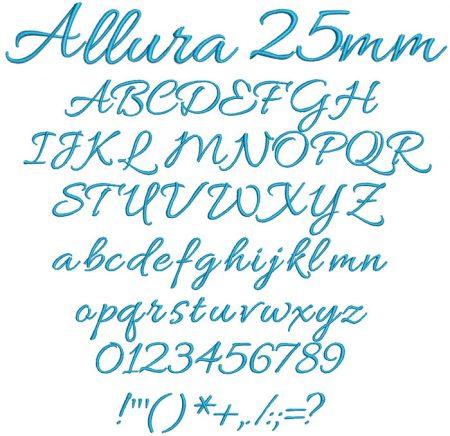 Allura 25mm Font