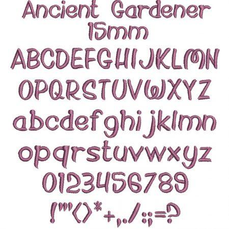 Ancient Gardener 15mm Font