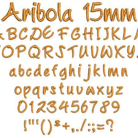 Aribola 15mm Font