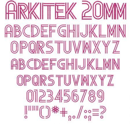 Arkitek 20mm Font