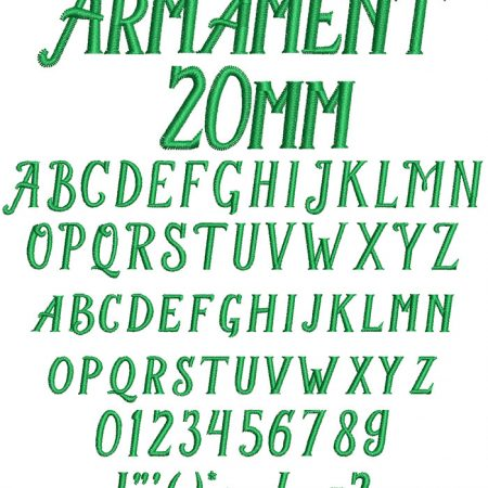 Armament 20mm Font