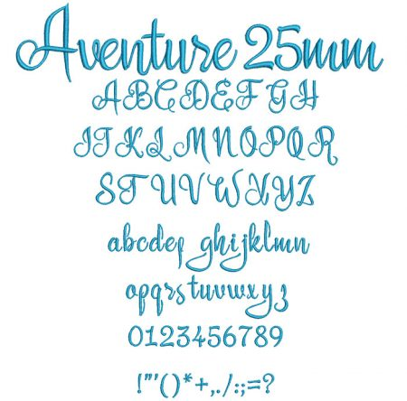 Aventure 25mm Font