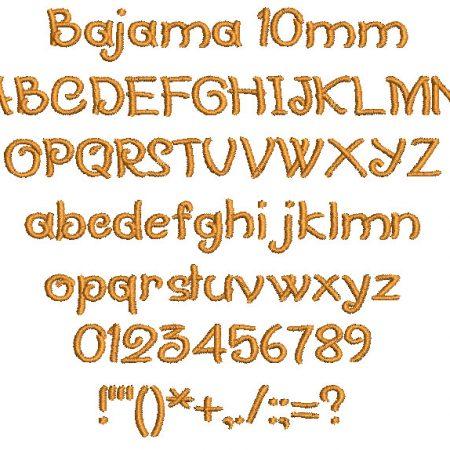 Bajama 10mm Font