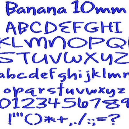 Banana 10mm Font