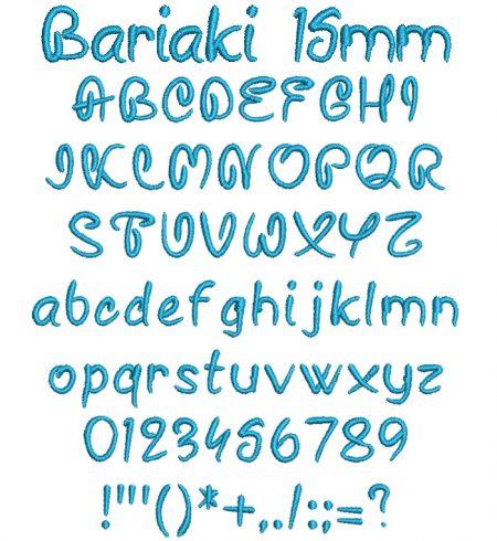 Bariaki 15mm Font
