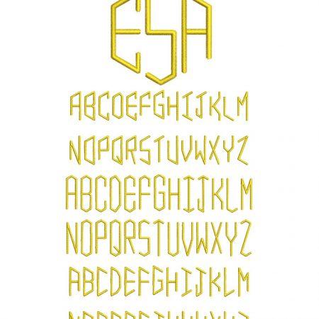 Beehive Monogram 50mm Font