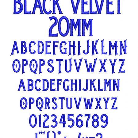 Black Velvet 20mm Font
