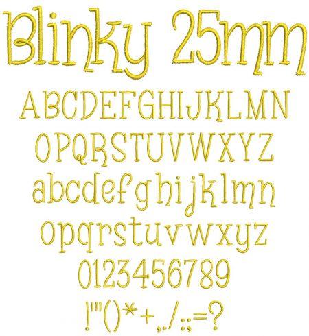 Blinky 25mm Font