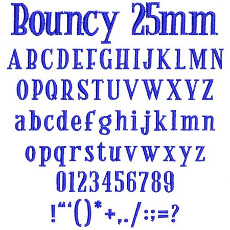 Bouncy 25mm Font