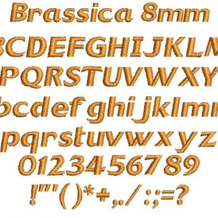 Brassica 8mm Font