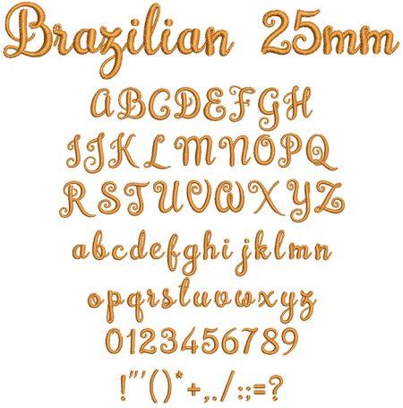Brazilian 25mm Font