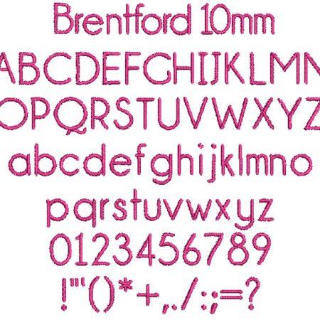 Brentford 10mm Font