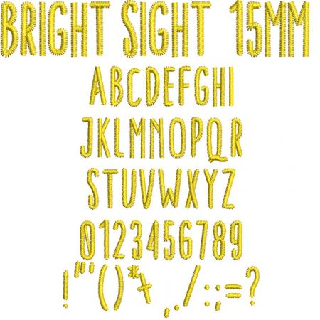 Bright Sight 15mm Font