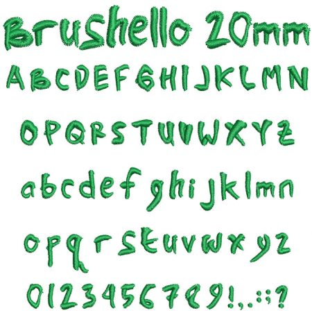 Brushello 20mm Font
