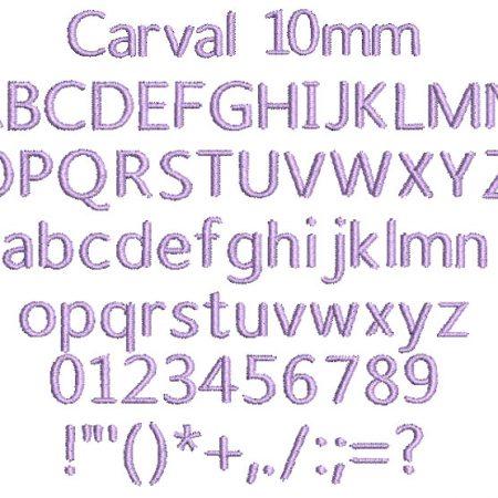 Carval 10mm Font