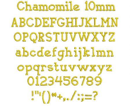 Chamomile 10mm Font