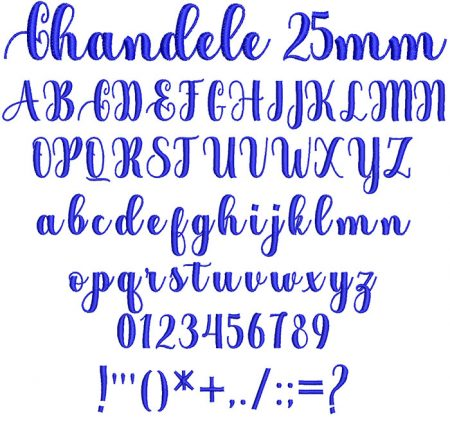 Chandele 25mm Font