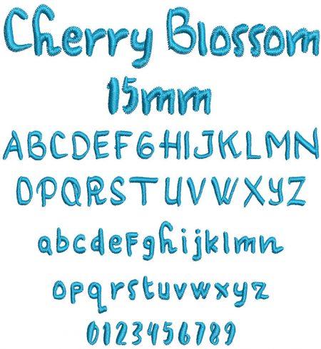 Cherry Blossom 15mm Font