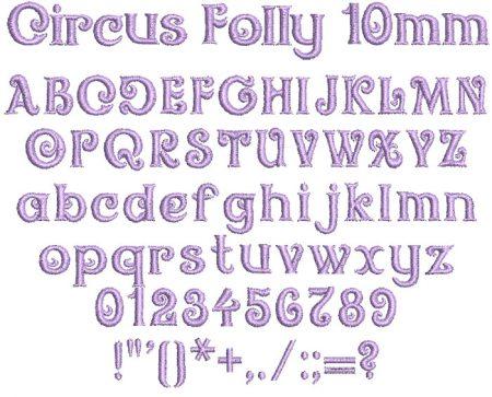 Circus Folly 10mm Font
