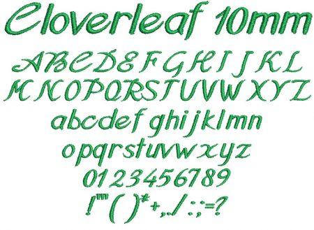 Cloverleaf 10mm Font