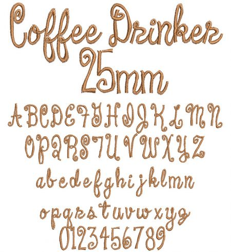 Coffee Drinker 25mm Font