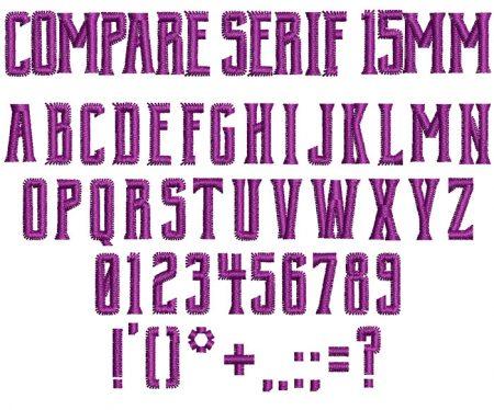Compare Serif 15mm Font