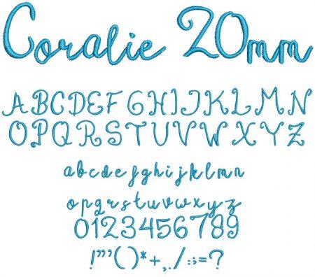 Coralie 20mm Font
