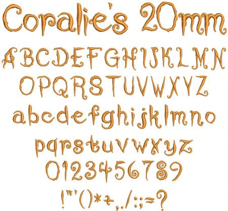 Coralie's Cat 20mm Font