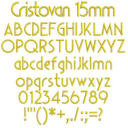Cristovan 15mm Font
