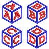 Cube Monogram 50mm Font