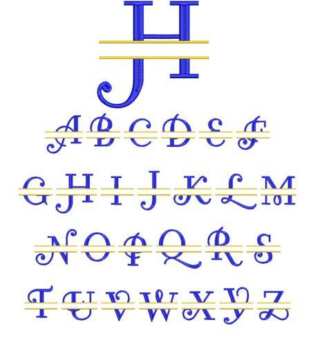 Curl Split Monogram 100mm Font