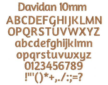 Davidan 10mm Font