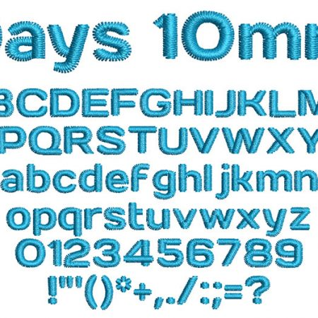 Days 10mm Font