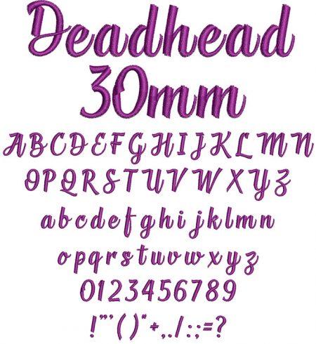 Deadhead 30mm Font