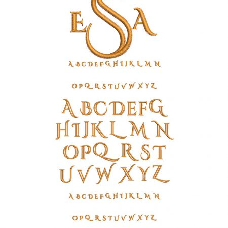 Deco Monogram 50mm Font
