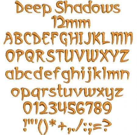 Deep Shadows 12mm Font
