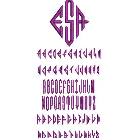 Diamond Monogram 50mm Font