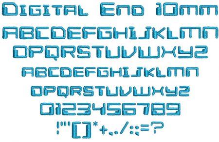 Digital End 10mm Font