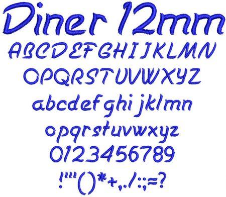 Diner 12mm Font