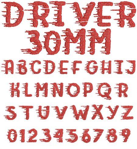 Driver 30mm Font