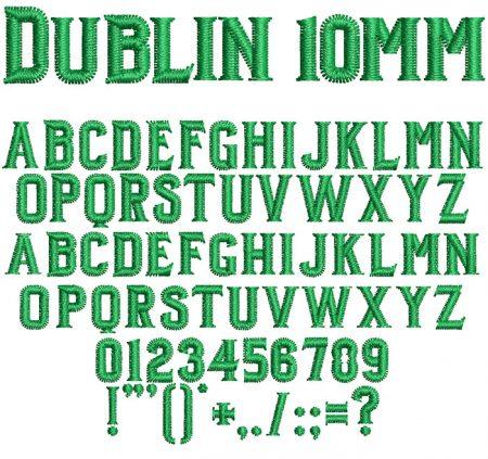 Dublin 10mm Font