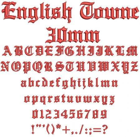 English Towne 30mm Font