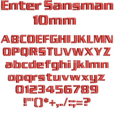 Enter Sansman 10mm Font